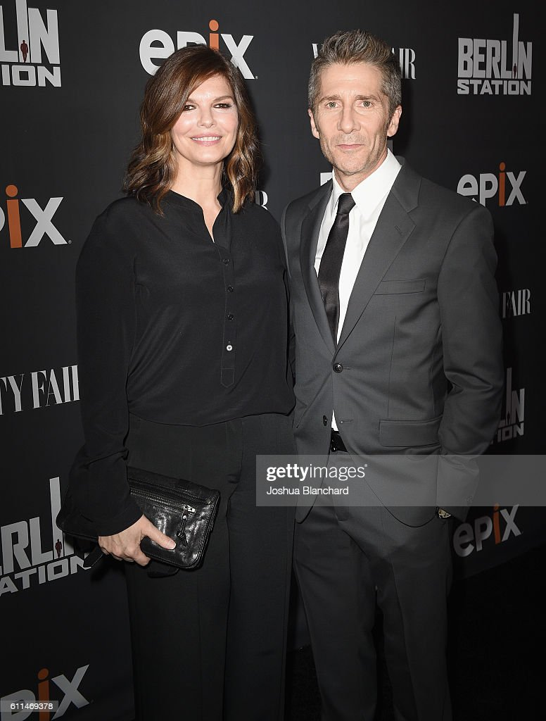 Actors Jeanne Tripplehorn and Leland Orser attend EPIX 'Berlin Station' LA premiere at Milk Studios on September 29, 2016 in Los Angeles, California.