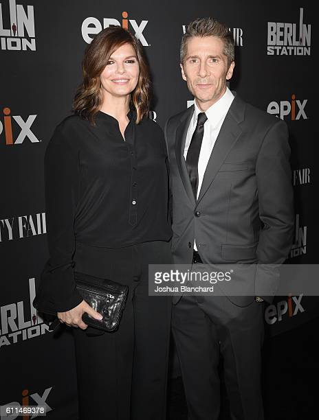 Actors Jeanne Tripplehorn and Leland Orser attend EPIX 'Berlin Station' LA premiere at Milk Studios on September 29 2016 in Los Angeles California