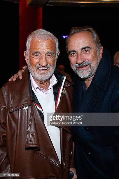 Actors JeanPaul Belmondo and Antoine Dulery attend LouisMichel Colla the Director of the 'Theatre de la Gaite Montparnasse' Celebrates his 60th...