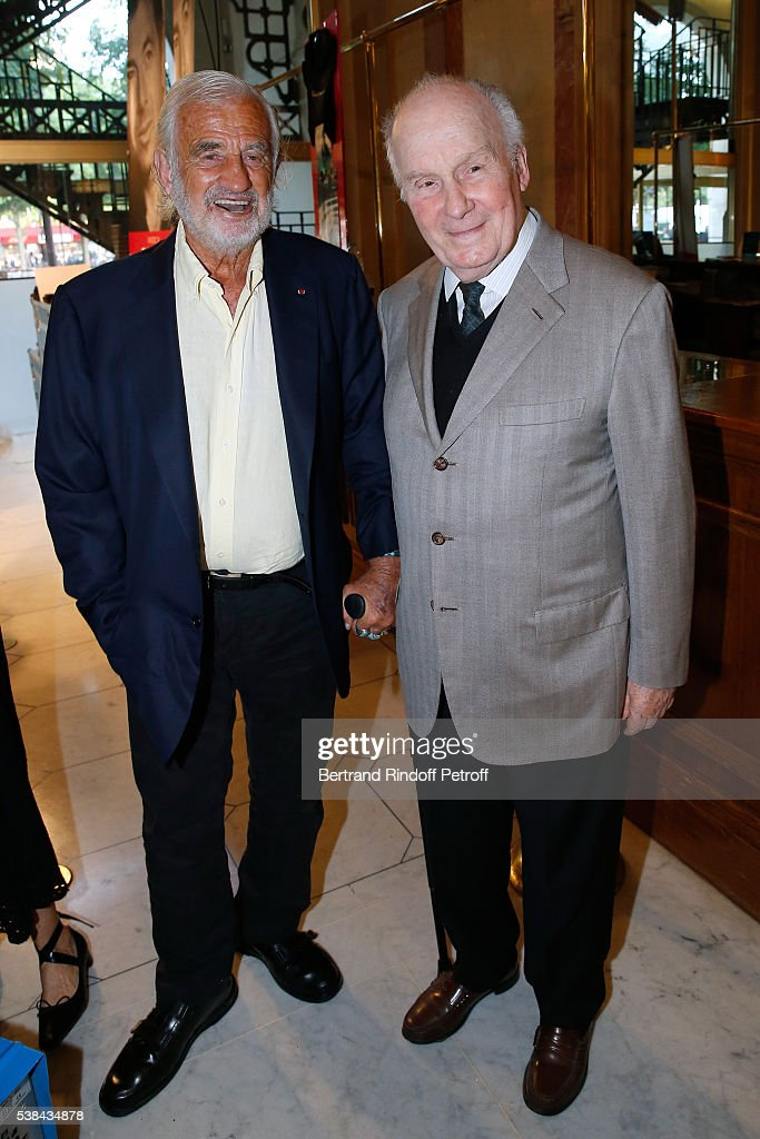 Actors <a gi-track='captionPersonalityLinkClicked' href=/galleries/search?phrase=Jean-Paul+Belmondo&family=editorial&specificpeople=207029 ng-click='$event.stopPropagation()'>Jean-Paul Belmondo</a> and <a gi-track='captionPersonalityLinkClicked' href=/galleries/search?phrase=Michel+Bouquet&family=editorial&specificpeople=2025171 ng-click='$event.stopPropagation()'>Michel Bouquet</a> attend the Concert of Patrick Bruel at Theatre Du Chatelet on June 6, 2016 in Paris, France.