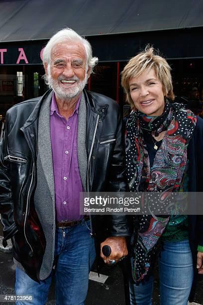 Actors JeanPaul Belmondo and Veronique Jannot attend the 2015 Public performance of 'L'Entree Des Artistes' Held at Theatre de la Gaite Montparnasse...