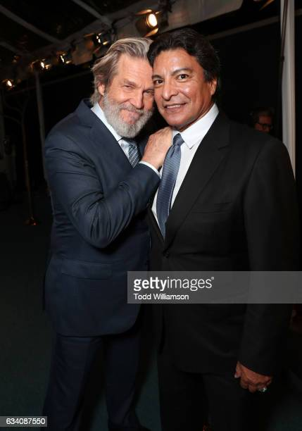 Actors Jeff Bridges and Gil Birmingham attend The Hollywood Reporter 5th Annual Nominees Night at Spago on February 6 2017 in Beverly Hills California