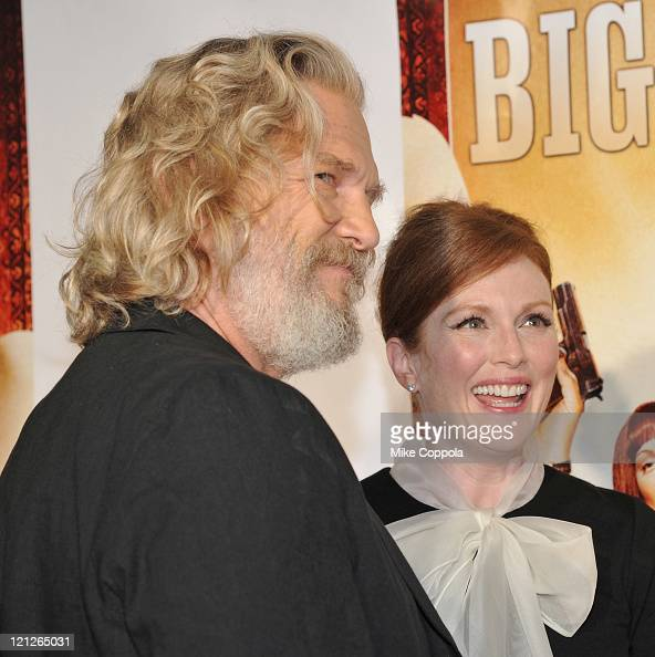 Actors Jeff Bridges and Julianne Moore attend 'The Big Lebowski' Bluray release at the Hammerstein Ballroom on August 16 2011 in New York City