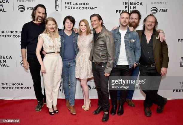 Actors Jeff Daniel Phillips Ivana Shein Mickey Keating Ashley Bell Mark Kassen Sam Zimmerman Jeremy Gardner and Larry Fessenden attends the...