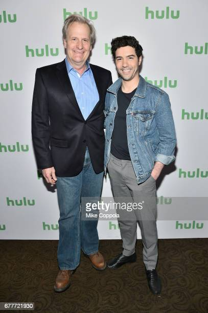 Actors Jeff Daniels and Tahar Rahim of 'The Looming Tower' attend the Hulu Upfront at Madison Square Garden on May 3 2017 in New York City