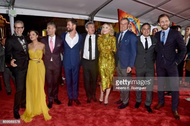 Actors Jeff Goldblum Tessa Thompson Director Taika Waititi Actor Chris Hemsworth Chairman The Walt Disney Studios Alan Horn Actor Cate Blanchett The...
