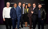 Actors Jeff Perry Joe Morton Scott Foley Tony Goldwyn executive producer Shonda Rhimes actors Cornelius Smith Jr Joshua Malina and Guillermo Diaz...