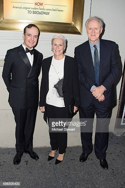 Actors Jefferson Mays Glenn Close and John Lithgow attend 'You Can't Take It With You' opening night at Longacre Theatre on September 28 2014 in New...