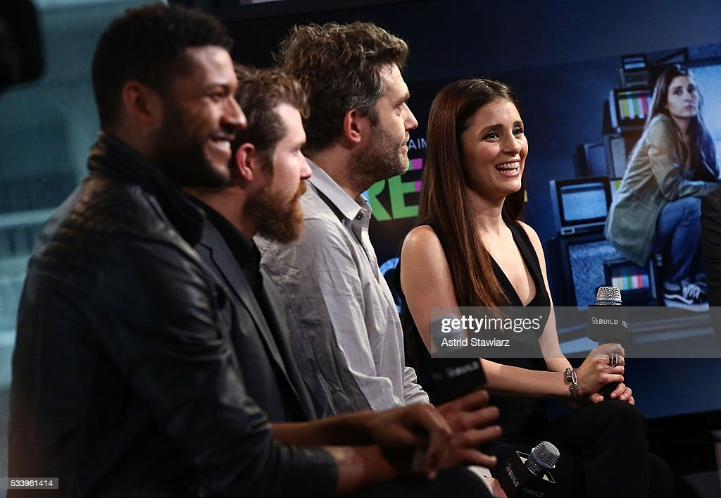 Actors Jeffrey Bowyer-Chapman, Josh Kelly, Craig Bierk and Shiri Appleby attend AOL Build Presents: The Cast Of 'UnREAL' at AOL Studios In New York on May 24, 2016 in New York City.