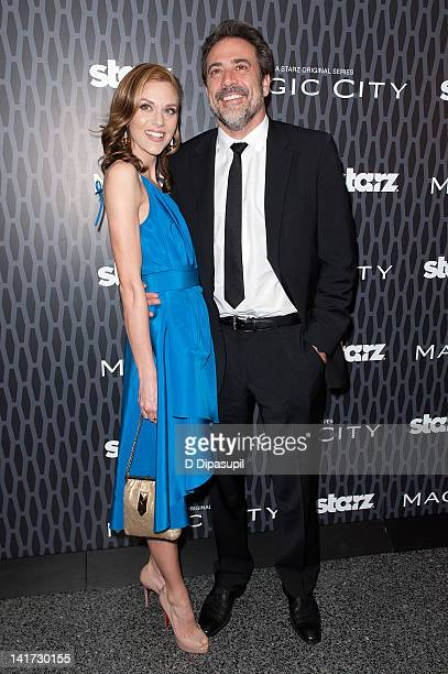 Actors Jeffrey Dean Morgan and Hilarie Burton attend the 'Magic City' screening at the Academy Theater at Lighthouse International on March 22 2012...
