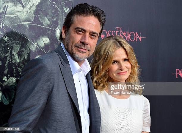 Actors Jeffrey Dean Morgan and Kyra Sedgwick arrive at the premiere of Lionsgate Films' 'The Possession' at ArcLight Cinemas on August 28 2012 in...