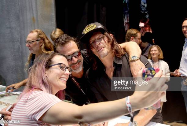 Actors Jeffrey Dean Morgan and Norman Reedus from 'The Walking Dead' sign autographs and take photos with fans at San Diego ComicCon International...