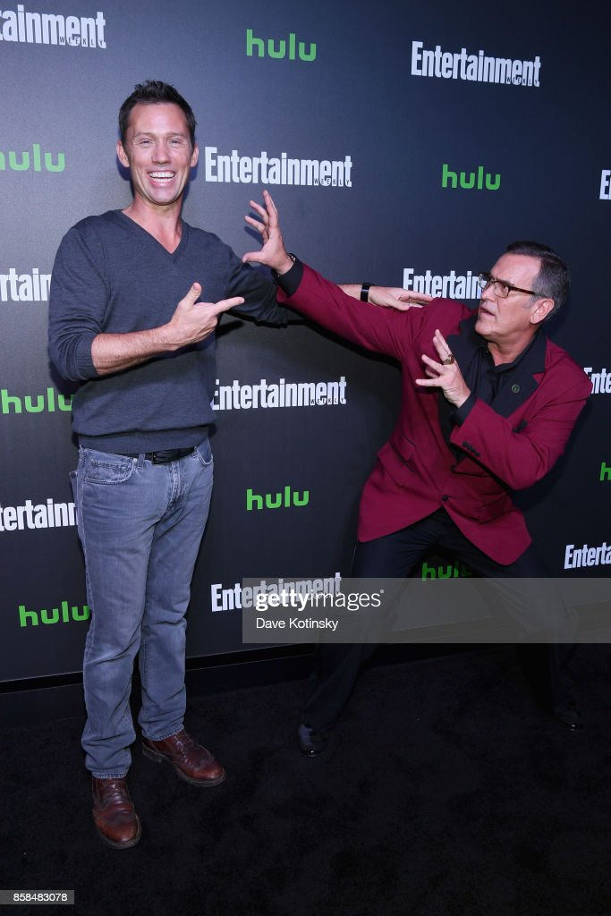 Actors Jeffrey Donovan and Bruce Campbell attend Hulu's New York Comic Con After Party at The Lobster Club on October 6, 2017 in New York City.