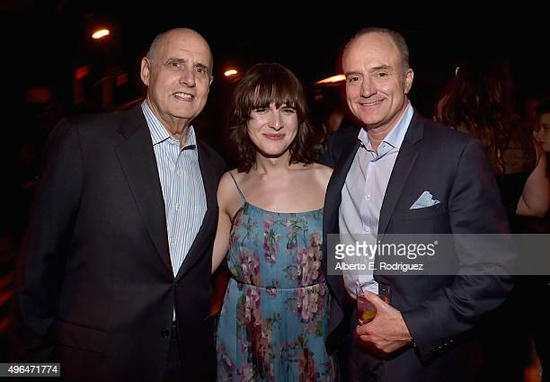 Actors Jeffrey Tambor Hari Nef and Bradley Whitford attend the after party for the Premiere Of Amazon's 'Transparent' Season 2 at SilverScreen...