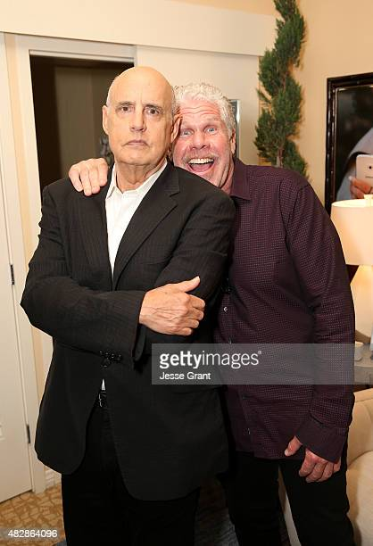 Actors Jeffrey Tambor of Amazon Studios' 'Transparent' and Ron Perlman of Amazon Studios' 'Hand Of God' attend the Getty Images Portrait Studio...