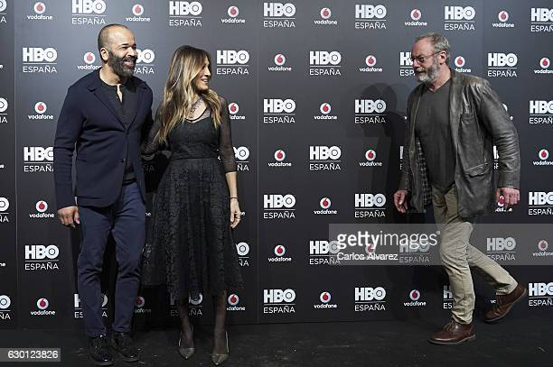 Actors Jeffrey Wright Sarah Jessica Parker and Liam Cunningham attend HBO Spain presentation party at Florida Retiro Club on December 16 2016 in...