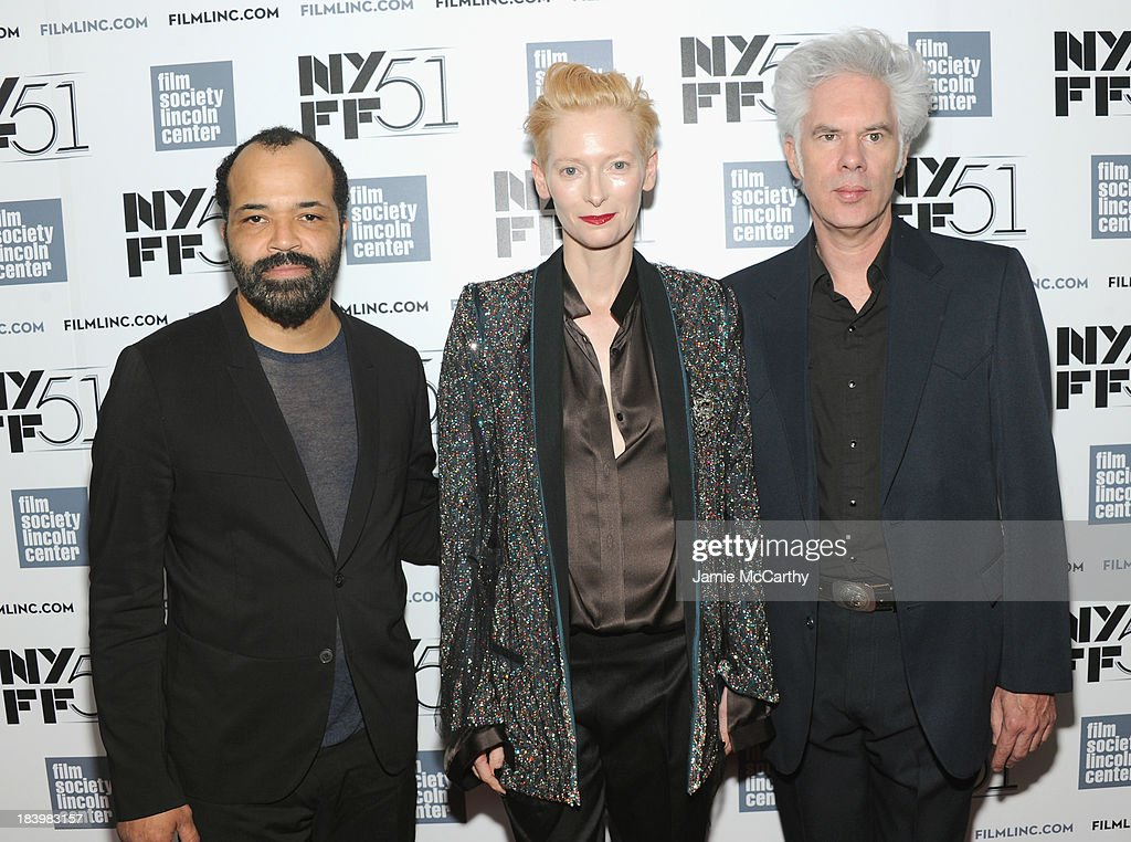 Actors <a gi-track='captionPersonalityLinkClicked' href=/galleries/search?phrase=Jeffrey+Wright&family=editorial&specificpeople=210851 ng-click='$event.stopPropagation()'>Jeffrey Wright</a>, <a gi-track='captionPersonalityLinkClicked' href=/galleries/search?phrase=Tilda+Swinton&family=editorial&specificpeople=202991 ng-click='$event.stopPropagation()'>Tilda Swinton</a> and director <a gi-track='captionPersonalityLinkClicked' href=/galleries/search?phrase=Jim+Jarmusch&family=editorial&specificpeople=208784 ng-click='$event.stopPropagation()'>Jim Jarmusch</a> attend the 'Only Lovers Left Alive' screening during the 51st New York Film Festival at Alice Tully Hall at Lincoln Center on October 10, 2013 in New York City.