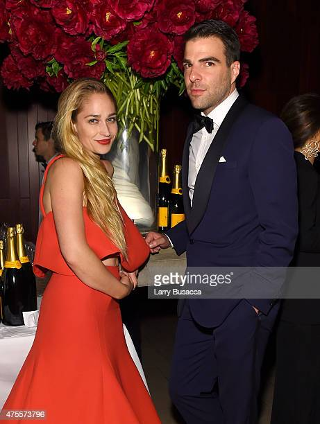 Actors Jemima Kirke and Zachary Quinto attend the 2015 CFDA Fashion Awards at Alice Tully Hall at Lincoln Center on June 1 2015 in New York City
