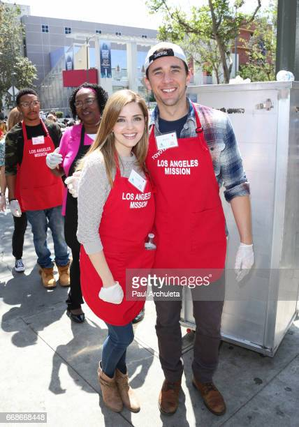 Actors Jen Lilley and Billy Flynn attend the Los Angeles Mission's Easter Celebration at Los Angeles Mission on April 14 2017 in Los Angeles...