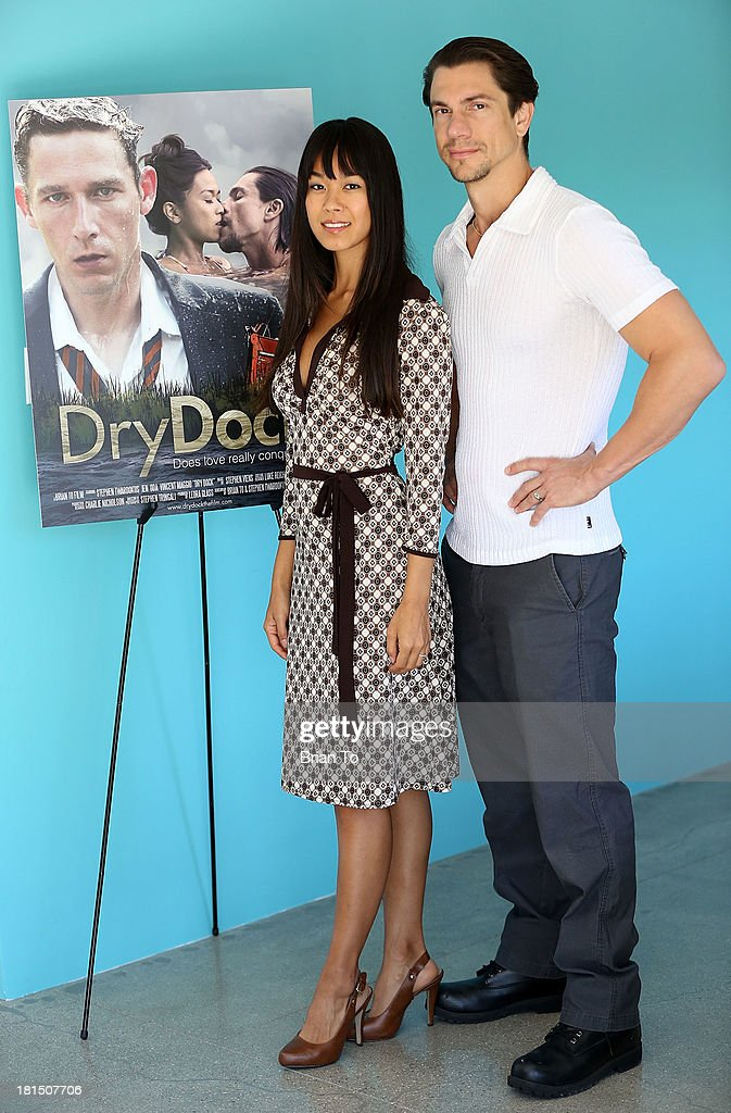 Actors Jen Oda and Vincent Maggio attend Cinema Diverse: The Palm Springs Gay And Lesbian Film Festival Premiere Of 'Dry Dock' at Camelot Theatres on September 21, 2013 in Palm Springs, California.