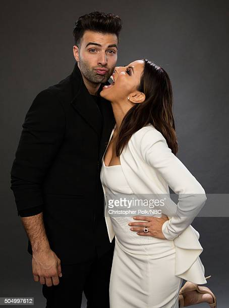 Actors Jencarlos Canela and Eva Longoria pose for a portrait during the NBCUniversal Press Day at The Langham Huntington Pasadena on January 13 2016...