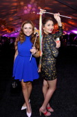Actors Jenessa Rose and Julianna Rose attend the after party for Cartoon Network's fourth annual Hall of Game Awards at Barker Hangar on February 15...