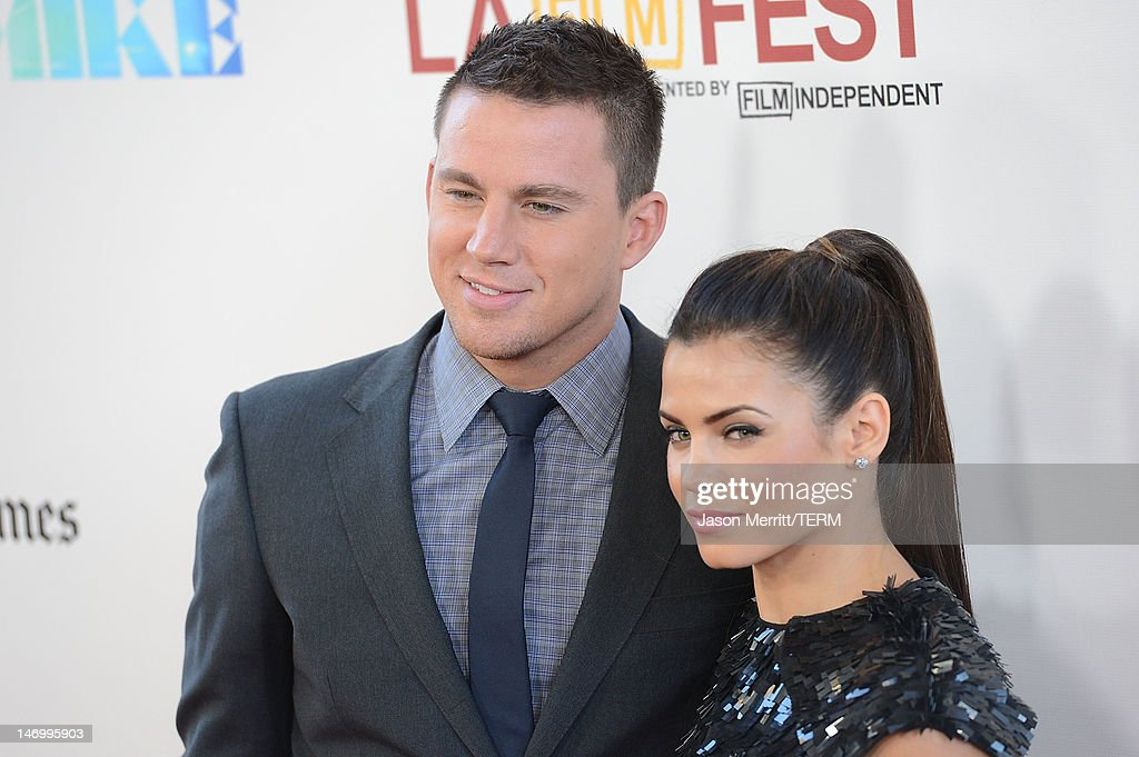 Actors <a gi-track='captionPersonalityLinkClicked' href=/galleries/search?phrase=Jenna+Dewan-Tatum&family=editorial&specificpeople=7220442 ng-click='$event.stopPropagation()'>Jenna Dewan-Tatum</a> and <a gi-track='captionPersonalityLinkClicked' href=/galleries/search?phrase=Channing+Tatum&family=editorial&specificpeople=549548 ng-click='$event.stopPropagation()'>Channing Tatum</a> arrive at the closing night gala premiere of 'Magic Mike' at the 2012 Los Angeles Film Festiva held at Regal Cinemas L.A. Live on June 24, 2012 in Los Angeles, California.