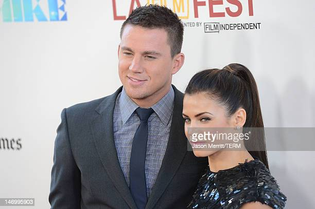 Actors Jenna DewanTatum and Channing Tatum arrive at the closing night gala premiere of 'Magic Mike' at the 2012 Los Angeles Film Festiva held at...