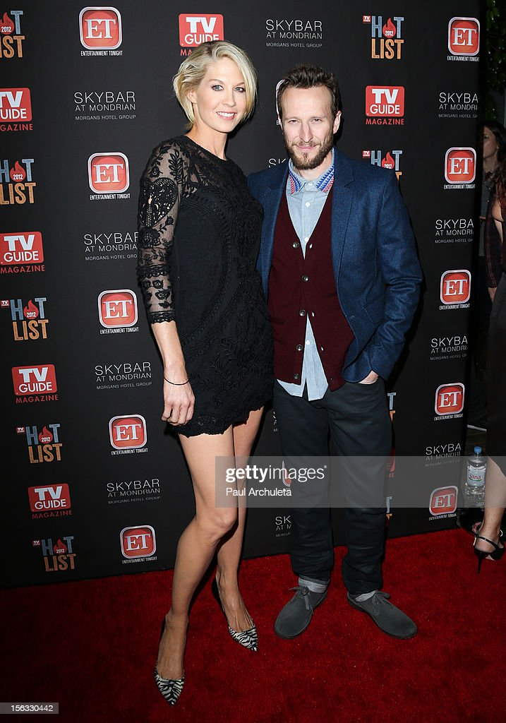 Actors Jenna Elfman (L) and Bodhi Elfman attend the TV Guide Magazine Hot List Party at SkyBar at the Mondrian Los Angeles on November 12, 2012 in West Hollywood, California.