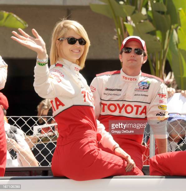 Actors Jenna Elfman and Jackson Rathbone attend the 37th Annual Toyota Pro/Celebrity Race on April 20 2013 in Long Beach California