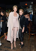 Actors Jenna Elfman and Julie Bowen attend the Women In Comedy event with July cover stars Leslie Jones Melissa McCarthy Kate McKinnon and Kristen...