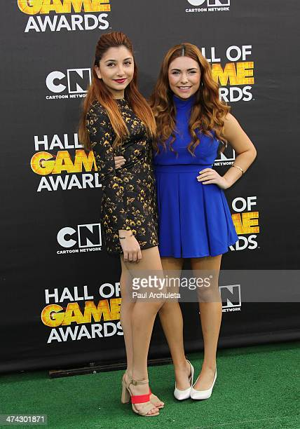Actors Jennessa Rose and Julianna Rose attend the Cartoon Network's Hall Of Game Awards at Barker Hangar on February 15 2014 in Santa Monica...