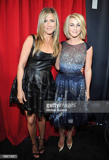 Actors Jennifer Aniston and Julianne Hough attend the 39th Annual People's Choice Awards at Nokia Theatre LA Live on January 9 2013 in Los Angeles...