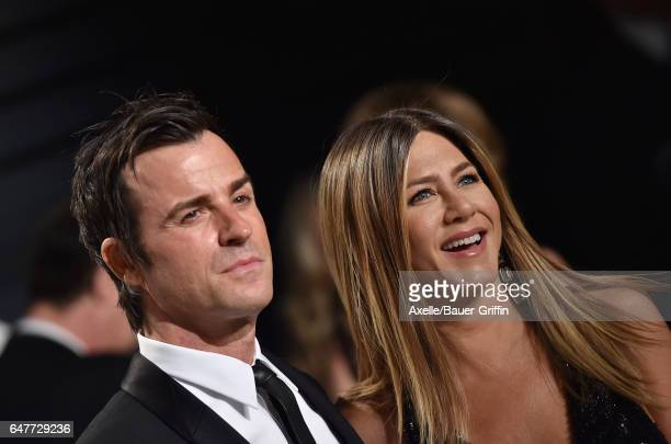 Actors Jennifer Aniston and Justin Theroux arrive at the 2017 Vanity Fair Oscar Party Hosted By Graydon Carter at Wallis Annenberg Center for the...