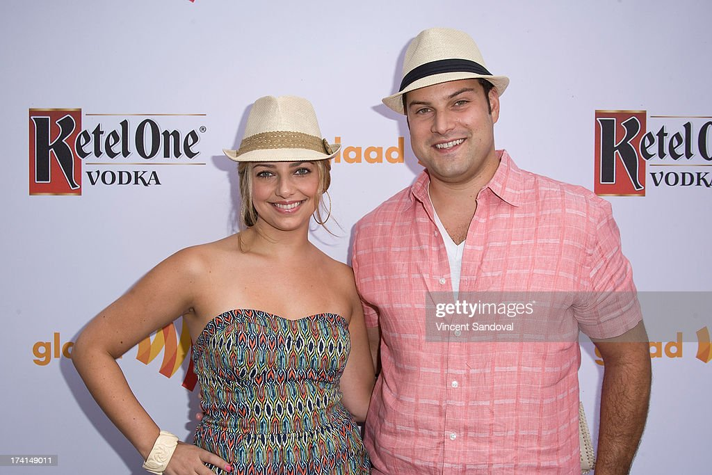 Actors Jennifer Bronstein and Max Adler attend GLAAD's annual food-themed fundraiser 'GLAAD Hancock Park' on July 20, 2013 in Los Angeles, California.