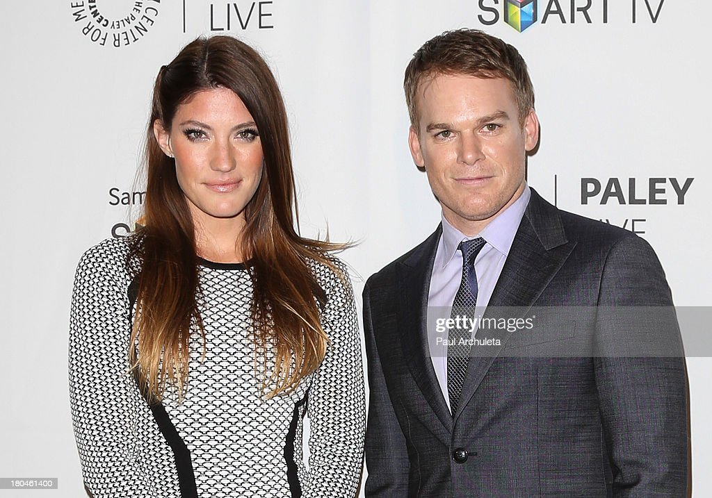 Actors Jennifer Carpenter and Michael C Hall attend PaleyFest Previews 'Dexter' at The Paley Center for Media on September 12 2013 in Beverly Hills...