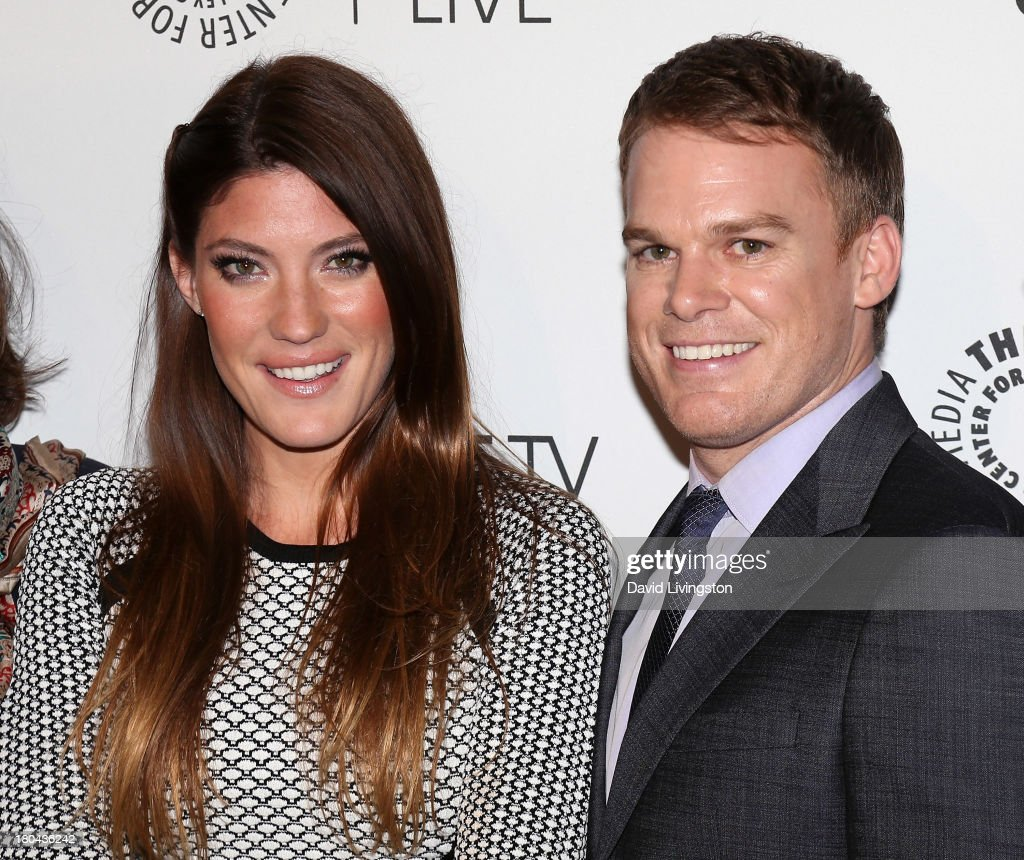 Actors <a gi-track='captionPersonalityLinkClicked' href=/galleries/search?phrase=Jennifer+Carpenter&family=editorial&specificpeople=595643 ng-click='$event.stopPropagation()'>Jennifer Carpenter</a> (L) and <a gi-track='captionPersonalityLinkClicked' href=/galleries/search?phrase=Michael+C.+Hall+-+Actor&family=editorial&specificpeople=680229 ng-click='$event.stopPropagation()'>Michael C. Hall</a> attend PaleyFestPreviews: Fall TV - Fall Farewell: 'Dexter' at The Paley Center for Media on September 12, 2013 in Beverly Hills, California.