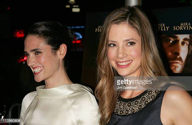 Actors Jennifer Connelly and Mira Sorvino arrive at the 'Reservation Road' Premiere at the United Artists' Theater on October 4 2007 in New York City
