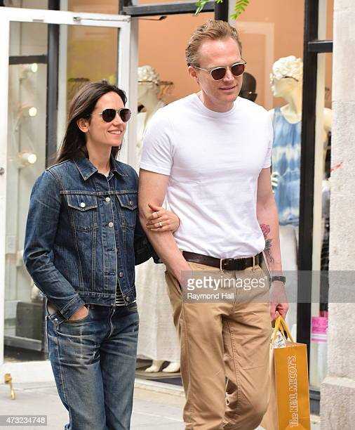 Actors Jennifer Connelly and Paul Bettany are seen walking in Soho on May 13 2015 in New York City