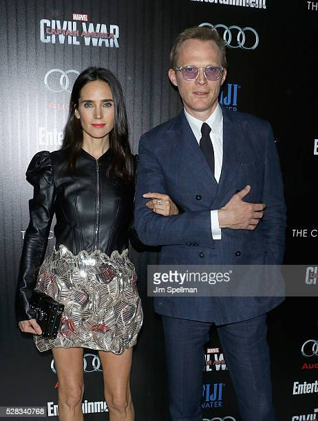 Actors Jennifer Connelly and Paul Bettany attend the screening of Marvel's 'Captain America Civil War' hosted by The Cinema Society with Audi FIJI at...