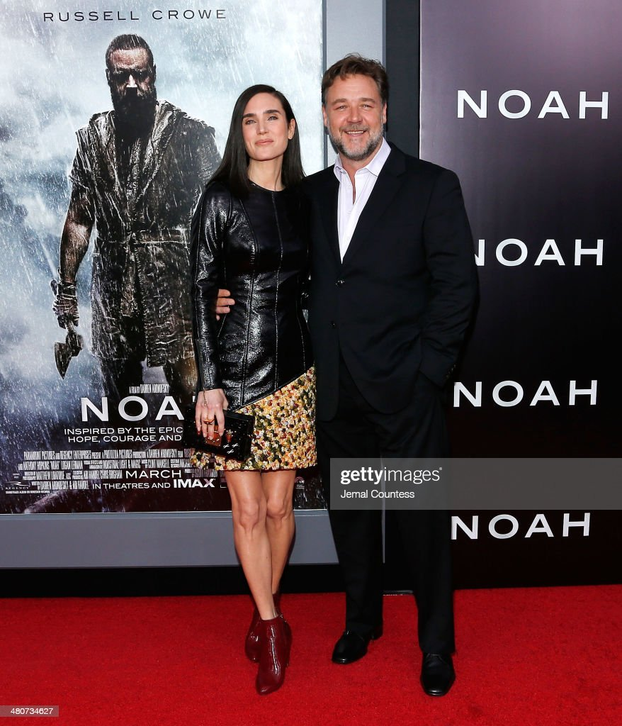 Actors Jennifer Connelly and Russell Crowe attend the New York Premiere of 'Noah' at Clearview Ziegfeld Theatre on March 26, 2014 in New York City.