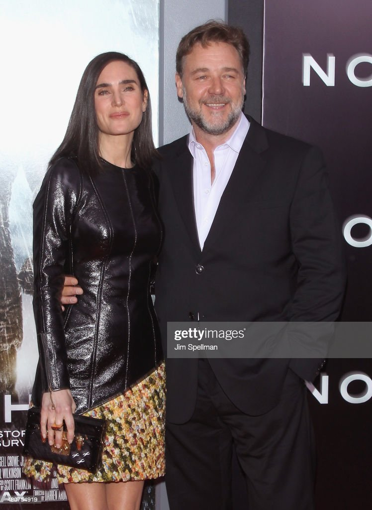 Actors <a gi-track='captionPersonalityLinkClicked' href=/galleries/search?phrase=Jennifer+Connelly&family=editorial&specificpeople=201581 ng-click='$event.stopPropagation()'>Jennifer Connelly</a> and <a gi-track='captionPersonalityLinkClicked' href=/galleries/search?phrase=Russell+Crowe&family=editorial&specificpeople=202609 ng-click='$event.stopPropagation()'>Russell Crowe</a> attend the 'Noah' New York Premiere at Ziegfeld Theatre on March 26, 2014 in New York City.