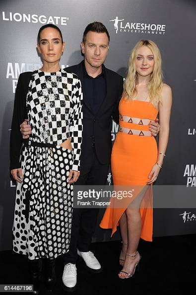 Actors Jennifer Connelly Ewan McGregor and Dakota Fanning attend the special screening of Lionsgate's 'American Pastoral' held at The Samuel Goldwyn...