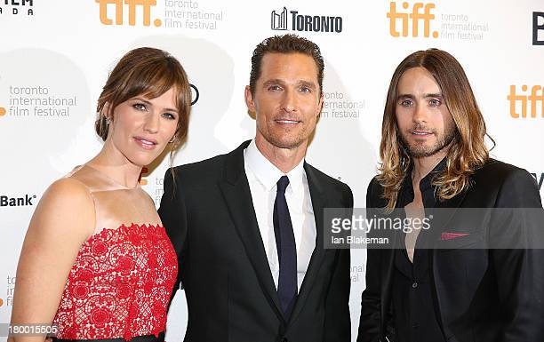 Actors Jennifer Garner Matthew McConaughey and Jared Leto arrive at the 'Dallas Buyers Club' premiere during the 2013 Toronto International Film...
