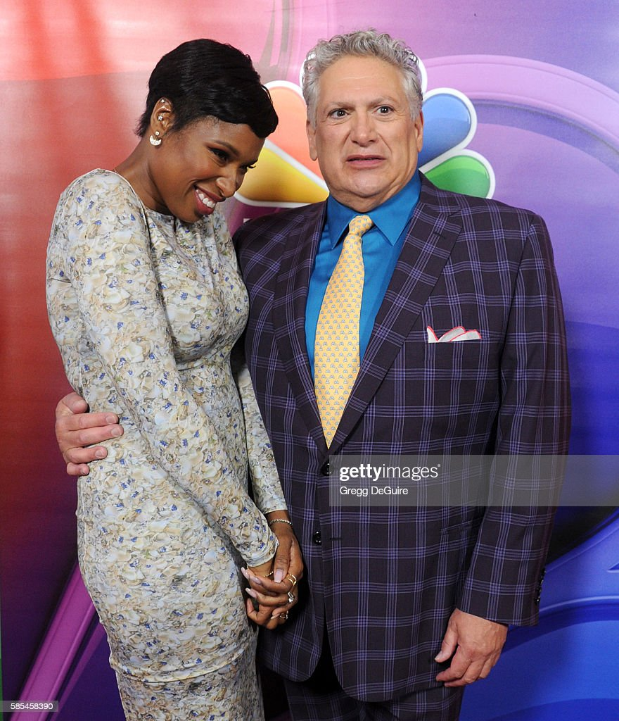 Actors Jennifer Hudson and Harvey Fierstein arrive at the 2016 Summer TCA Tour NBCUniversal Press Tour Day 1 at The Beverly Hilton Hotel on August 2...