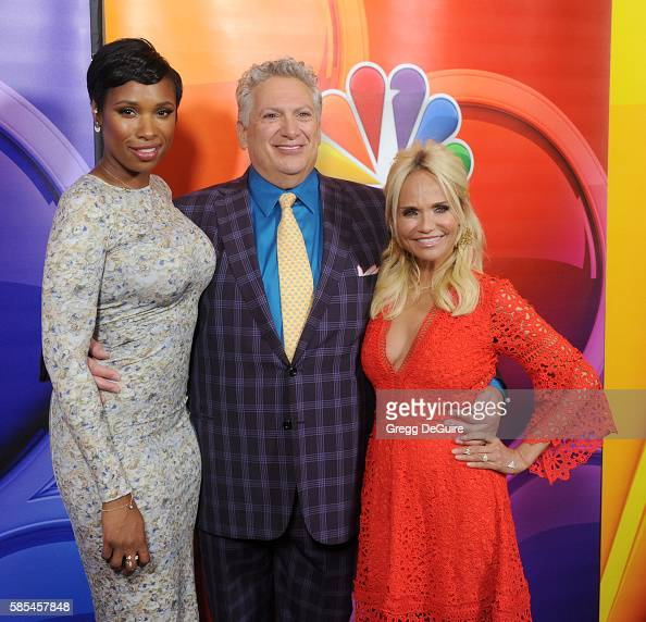 Actors Jennifer Hudson Harvey Fierstein and Kristin Chenoweth arrive at the 2016 Summer TCA Tour NBCUniversal Press Tour Day 1 at The Beverly Hilton...