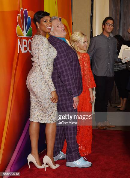 Actors Jennifer Hudson Harvey Fierstein and Kristin Chenoweth attend the 2016 Summer TCA Tour NBCUniversal Press Tour at the Beverly Hilton Hotel on...