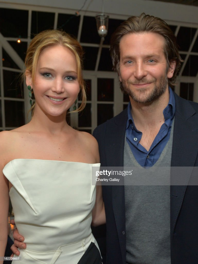 Actors <a gi-track='captionPersonalityLinkClicked' href=/galleries/search?phrase=Jennifer+Lawrence&family=editorial&specificpeople=1596040 ng-click='$event.stopPropagation()'>Jennifer Lawrence</a> (L) and <a gi-track='captionPersonalityLinkClicked' href=/galleries/search?phrase=Bradley+Cooper&family=editorial&specificpeople=680224 ng-click='$event.stopPropagation()'>Bradley Cooper</a> attend the Vanity Fair, Barneys New York and The Weinstein Company celebration of 'Silver Linings Playbook' in support of The Glenholme School on February 20, 2013 in Los Angeles, California