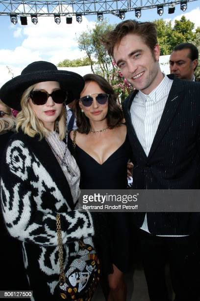 Actors Jennifer Lawrence Natalie Portman and Robert Pattinson attends the Christian Dior Haute Couture Fall/Winter 20172018 show as part of Haute...