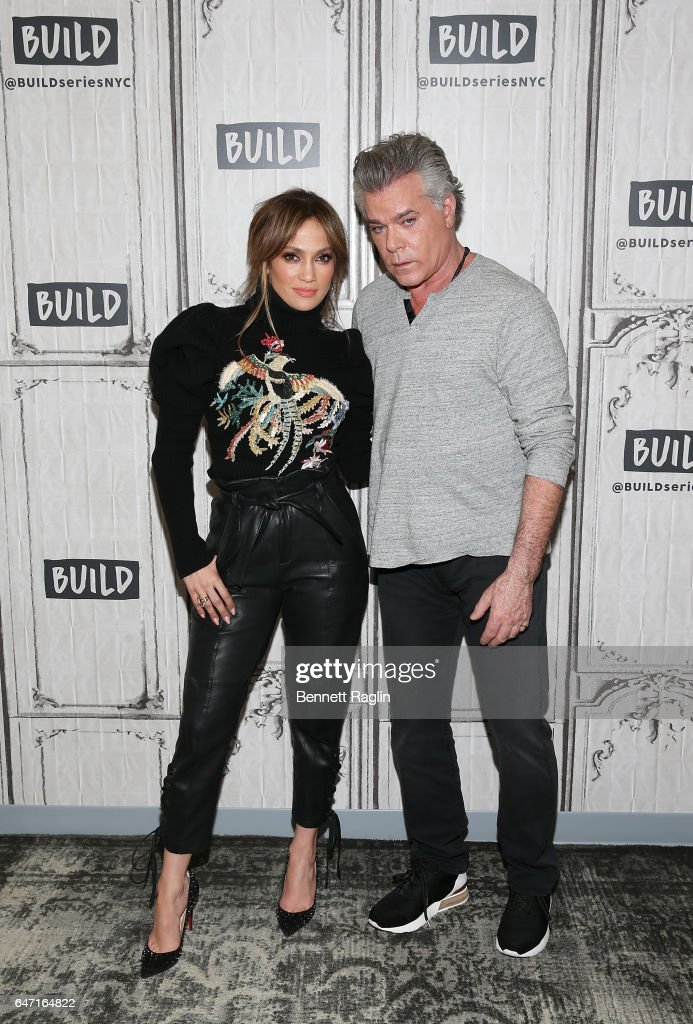 Actors Jennifer Lopez and Ray Liotta attend the Build Series at Build Studio on March 2, 2017 in New York City.